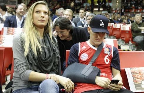 Sarah Brandner and Bastian Schweinsteiger